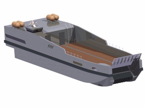 局部气垫双体船